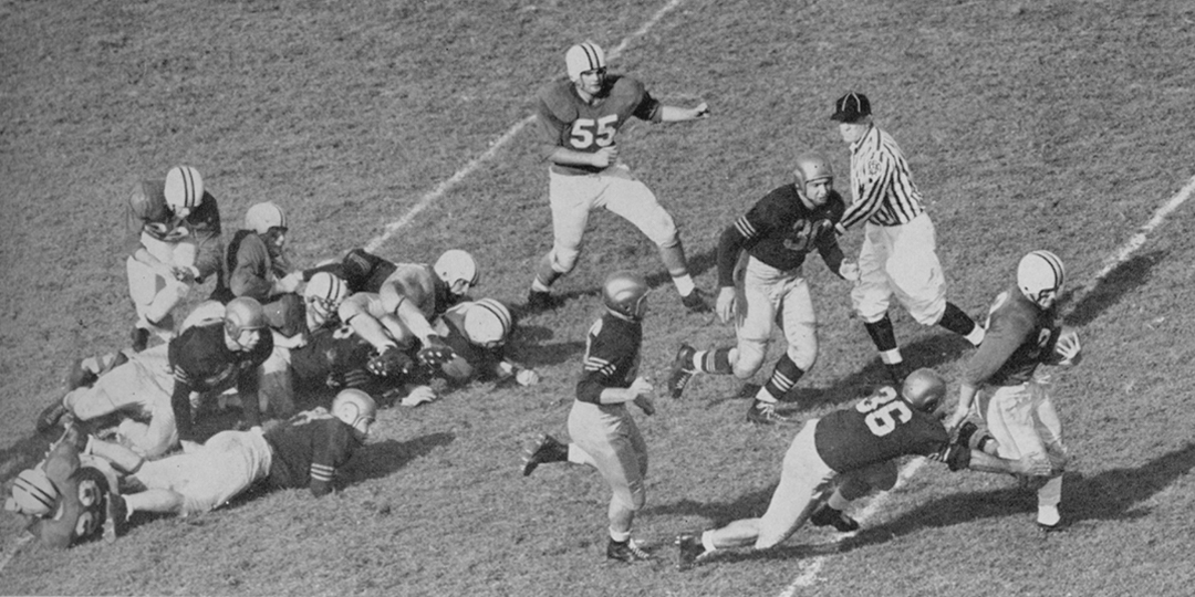 Vintage Photograph of Terps Football