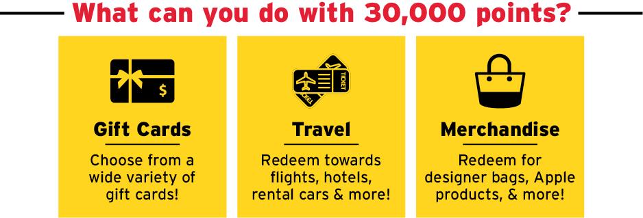 What can you do with 30,000 points?