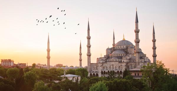 Skyline view of Hagia Sophia in Istanbul
