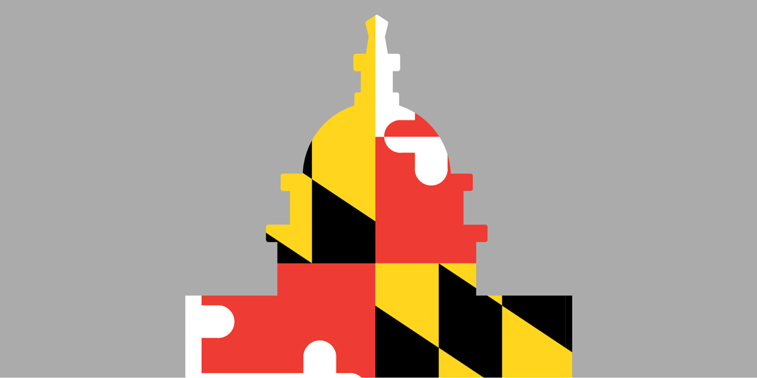 Capital Graphic with Maryland Flag