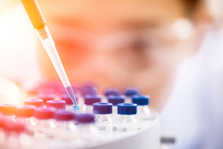 Scientist working on COVID-19 vaccine
