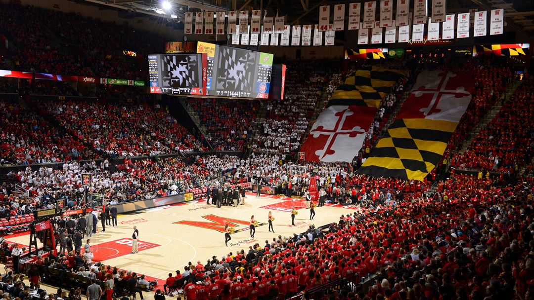 Picture of a sold crowd at the Xfinity Center