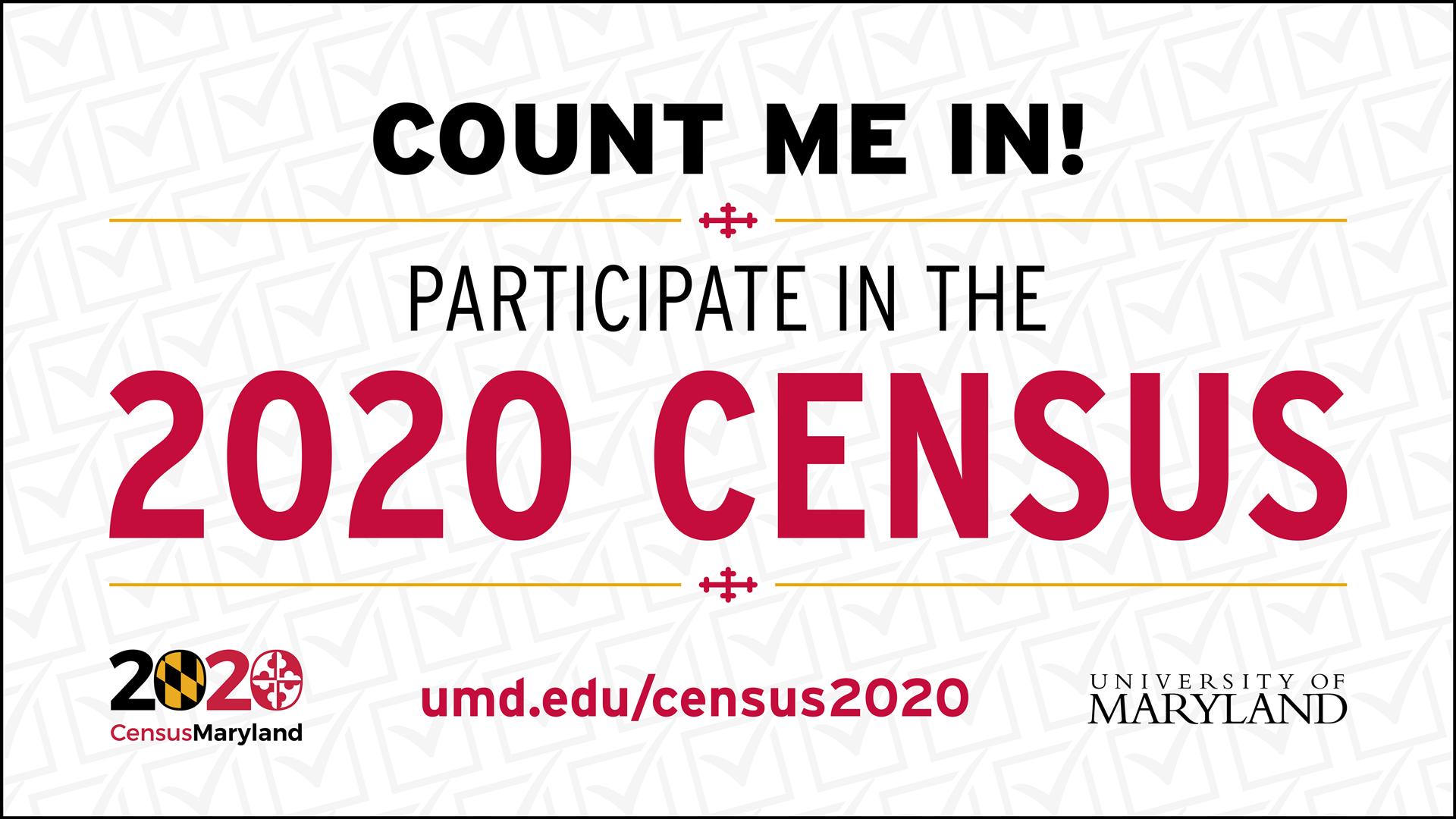 Count Me In! Participate In The 2020 Census