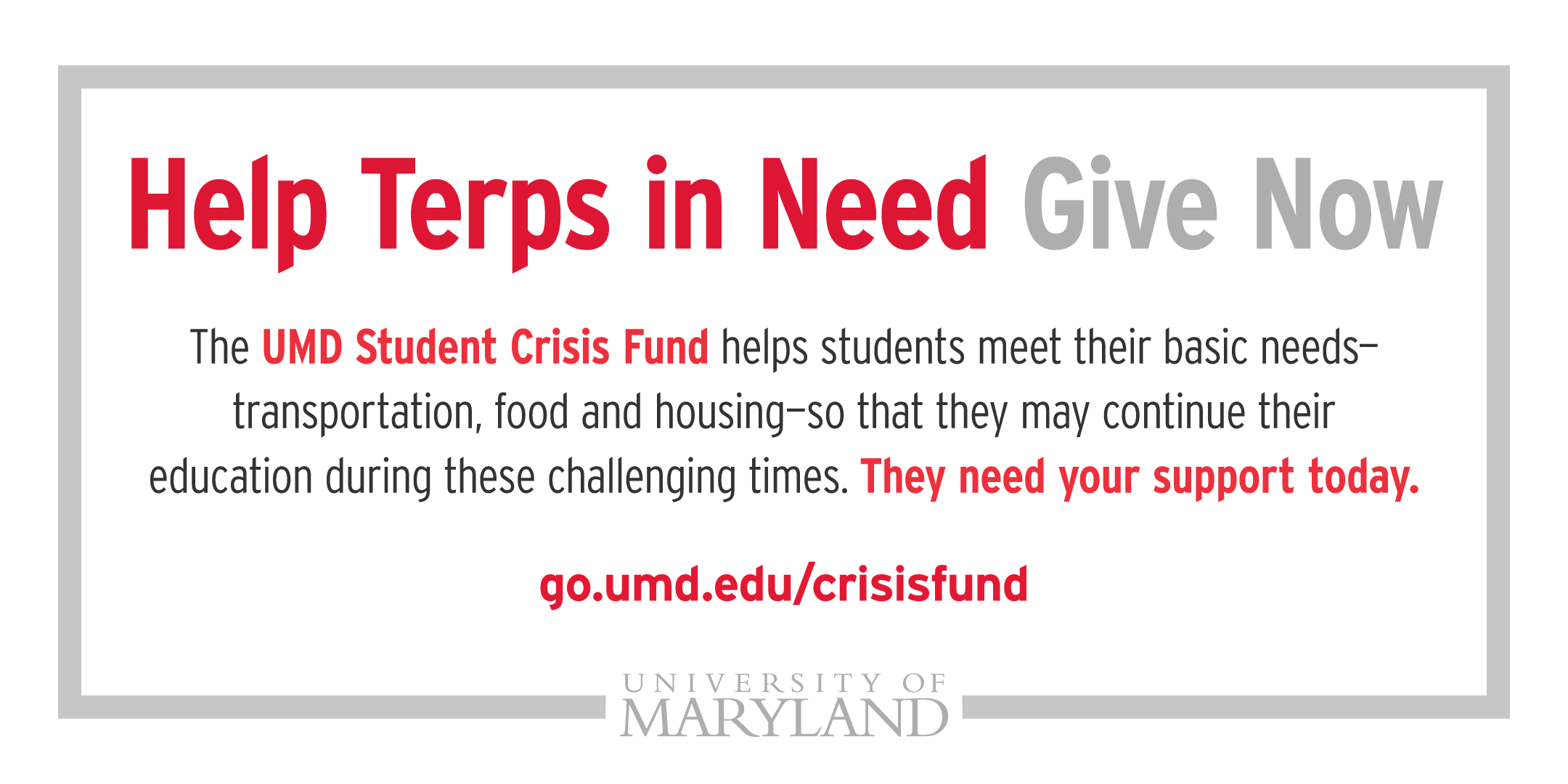 Help Terps In Need Give Now