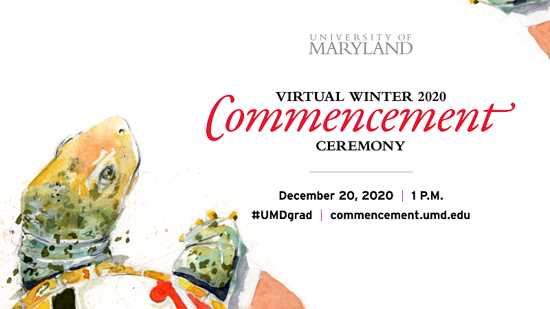 UMD's Virtual Winter Commencement