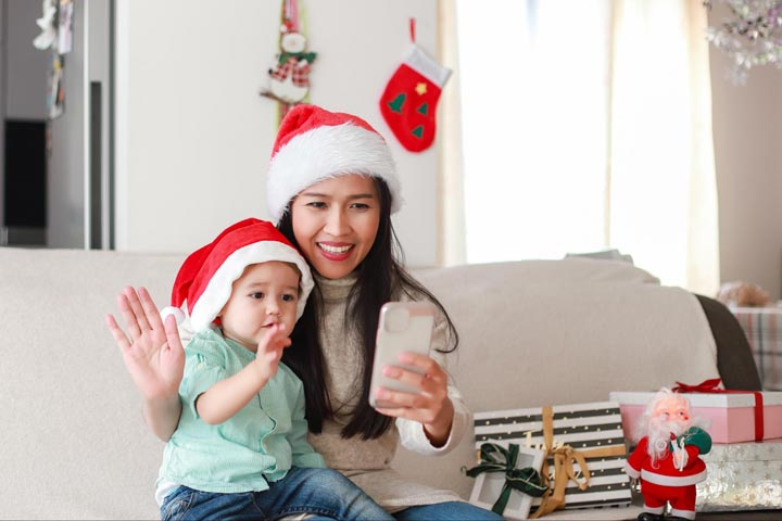 Mom and child at home | COVID and the Holidays