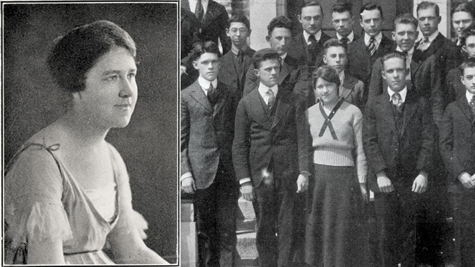 Women's History Month - Photos of Elizabeth Hook courtesy of University Archives