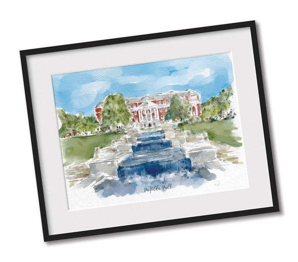 Join before June 30th, to receive this Free Mckeldin Mall water Color Print